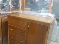 Chest of draws with cupboard
