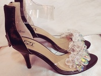 Beautiful bejewelled heels-size 6