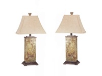 2 Pc. Marble Decorative Lamps