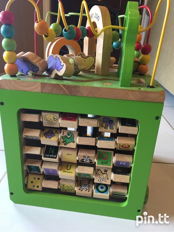 Wooden Busy Zoo Toy Box-4