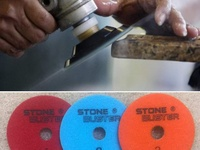 Granite and quartz 3 step polishing pads