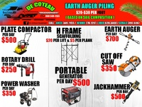 Auger Piling and Tool Rental