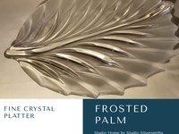 Frosted Palm Fine Crystal Platter