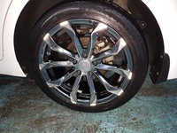 Rims and tyres 17 inch 5 hole Black chrome
