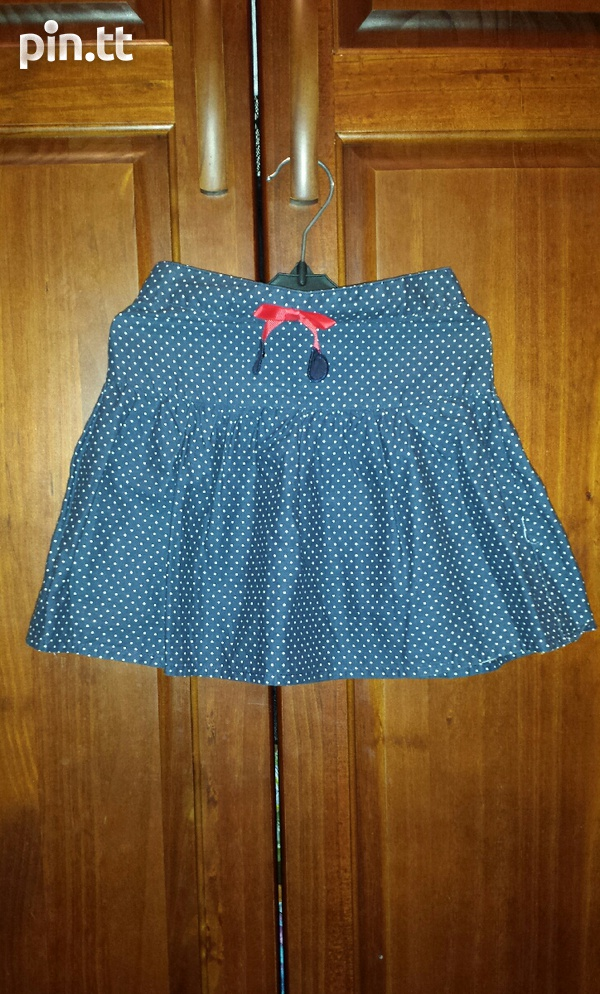 Girl's Short Polka dot Skirt-1
