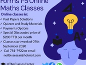 Forms 1-5 Online Maths Classes including Repeaters- September 2020