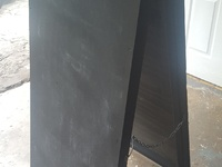 Wooden chalkboard double sided sign