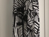 Strappy Palm Print V-Neck Jumpsuit