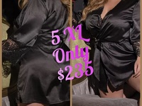 Silky Lace Robe