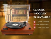 Classic Wooden Turntable/Sound System