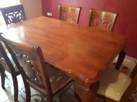 6 piece wooden dining room set