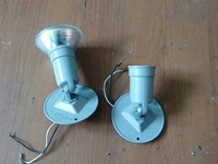 Pair of outdoor and indoor wall lamp