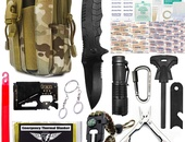 Survival Kit, 80-in-1 Outdoor Gears Tactical Tools Emergency Kit