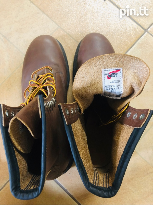 Red wing steel toe boots-2