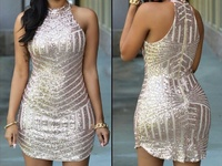 Large Gold Sequin Dress