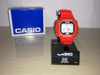 Casio Red Resin Digital Watch