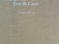 Accounting Text and Cases, 12th edition.
