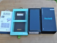 New Samsung Note 8 with Kate Spade case, tempered glass and 96GB spcae