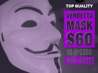 Carnival/Fete Masks - Vendetta / Anonymous / Jason