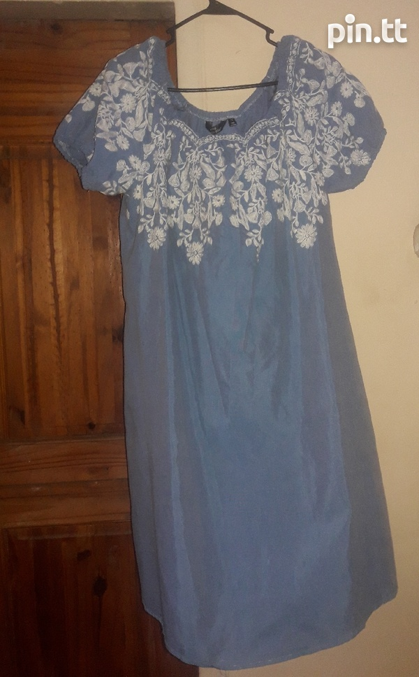1x embroidery dress