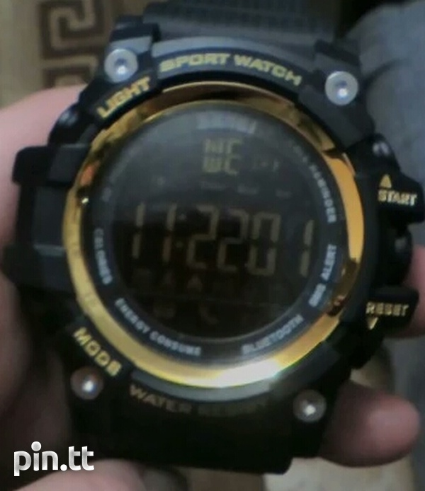 Waterproof Bluetooth Smart Watch G-Shock style, works with any phone-7