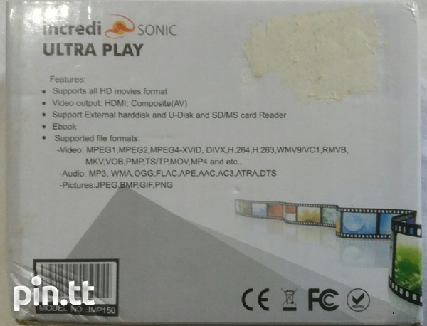 FULL HD 1080p Media Player IncrediSonic IMP 150 Ultra Play-3