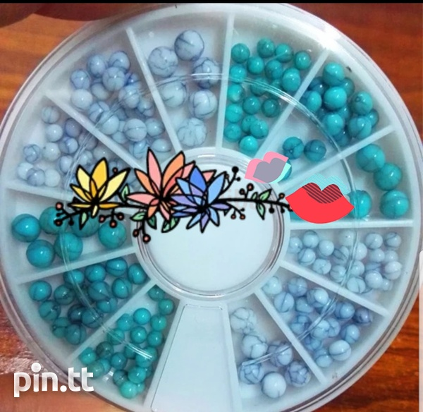 Marble pearl beads