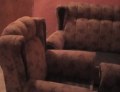 three piece couch set with foot stool good condition