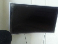 Samsung 50 Inch Smart Curve Television Still Has Plastic On It