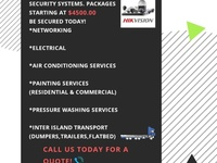 CCTV, Painting, Pressure Washing, Electrical, Inter-Island transport