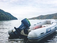 AB Inflatable Boat and Nissan 9.8 HP Engine