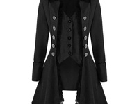 Victorian Black Peacoat large