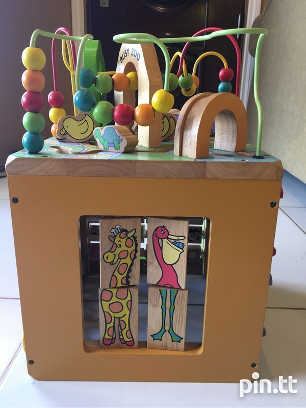 Wooden Busy Zoo Toy Box-1