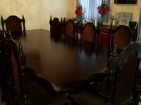 10 seater mahogany dining room set