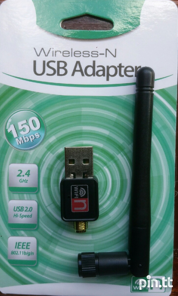 WIFI adapter USB dongle 150M with antenna, Brand New In Sealed Package-1