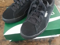 Boys Black Puma Sneakers