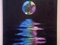 Painting - Rainbow Moon