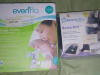Breast pump and maternity seat belt