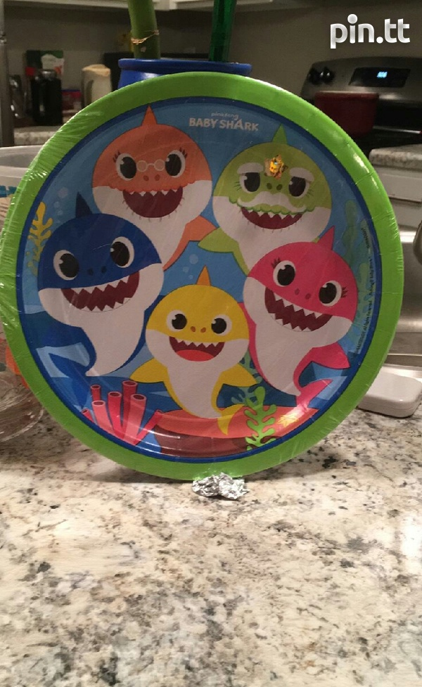 Baby Shark Party Lunch Plates