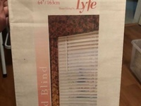 1 box of faux white blinds
