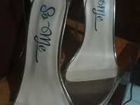 Rose colour clear strap 3inches heels