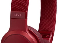 JBL Red Live 400BT Wireless On Ear Headphones with Voice Control