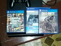 PS4 with two games and two controllers