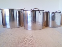 Unused Stock Pots with covers