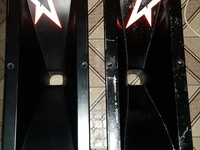 A pair of 15inch x 5 inch screw on flares