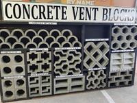 Concrete decorative blocks
