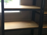 4 Tier heavy duty metal stand with MDF shelves
