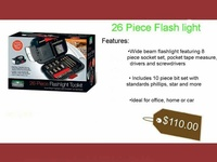 Flash light tool kit