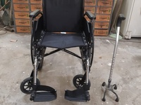 Wheelchair and Walking stick