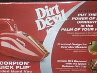 Dirt devil, Scorpion handheld vacuum
